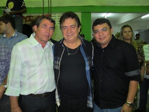 Prefeito de Monte Alegre Severino Rodrigues diretor de programação da Inter TV Cabugi, Antonio Nápoles e o prefeito de Macau  Kerginaldo  Pinto