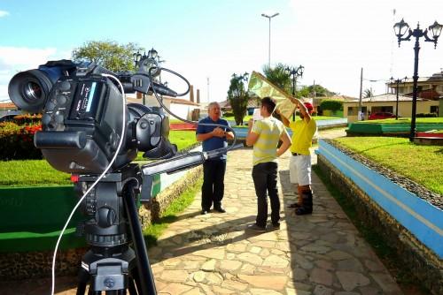 Prefeito Abelardo Rodrigues(DEM), gravar participação para programa do candidato a governador Henrique Alves