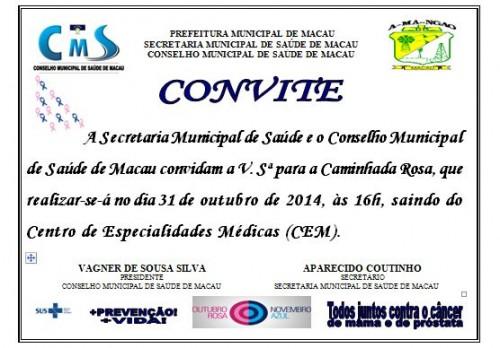 Secretaria De Saúde Reforça Convite Para Caminhada Rosa Notícias