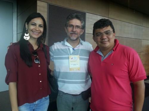 Articuladora do Selo UNICEF, Simone Fonseca, representante do ministério da saúde, e o Prefeito Kerginaldo Pinto