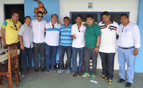 Prefeito Kerginaldo, Wilton Mariano, vereadores e a delegação do Baraúnas