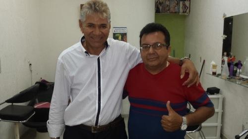 Carlão ao lado do amigo de Fé, Marocão